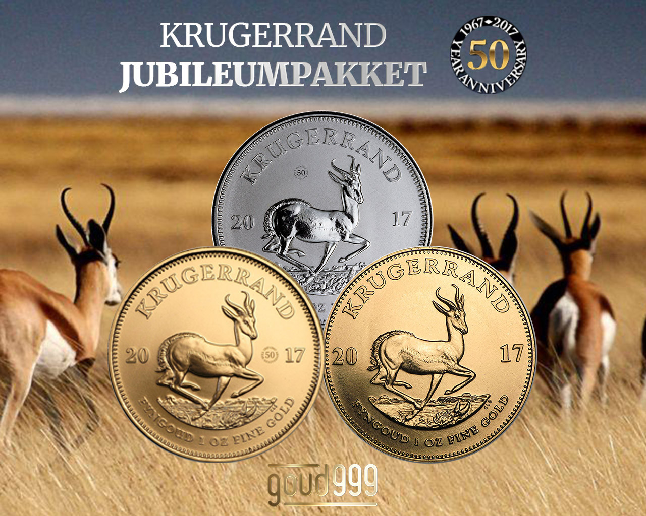 Krugerrand jubileumpakket   goud999