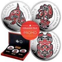 The Haida Series - Zilver 5 Ounce PROOF met ENAMEL | Geheel | Promo | goud999