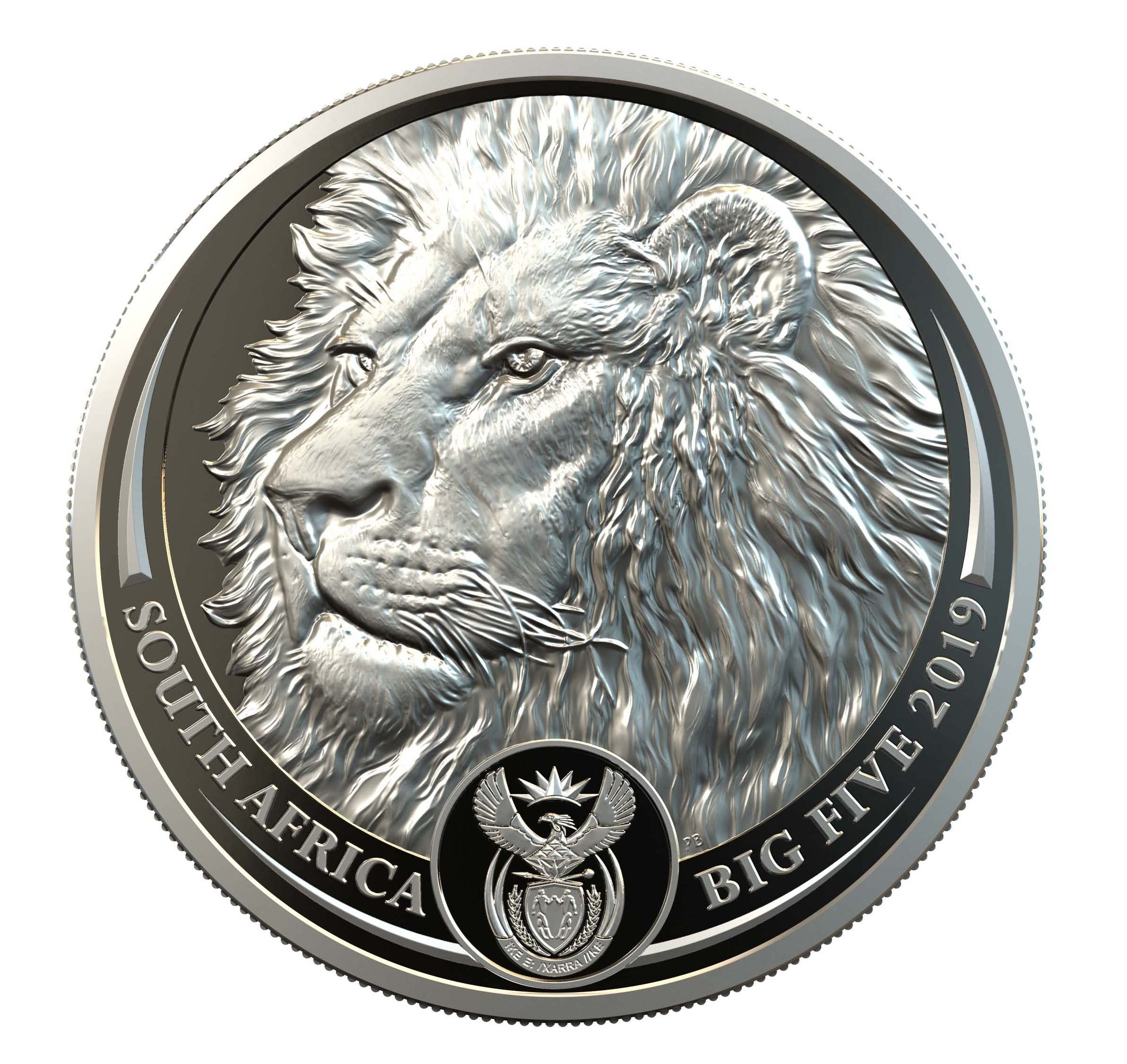 Lion Platina 1 Ounce 2019 PROOF |  Hoofdzijde | goud999