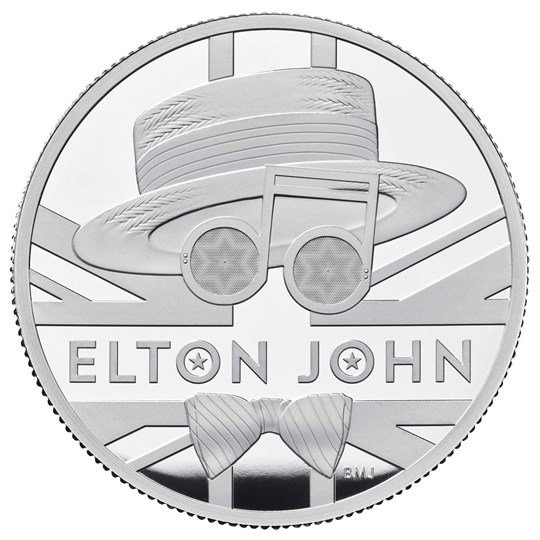 Britse Muziek Legendes Elton John Zilver 1 Ounce 2020