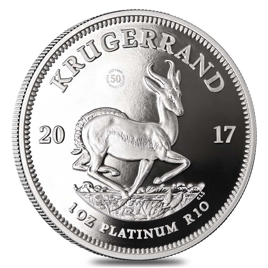 Krugerrand Platina 1 Ounce 2017 PROOF    Muntzijde   goud999