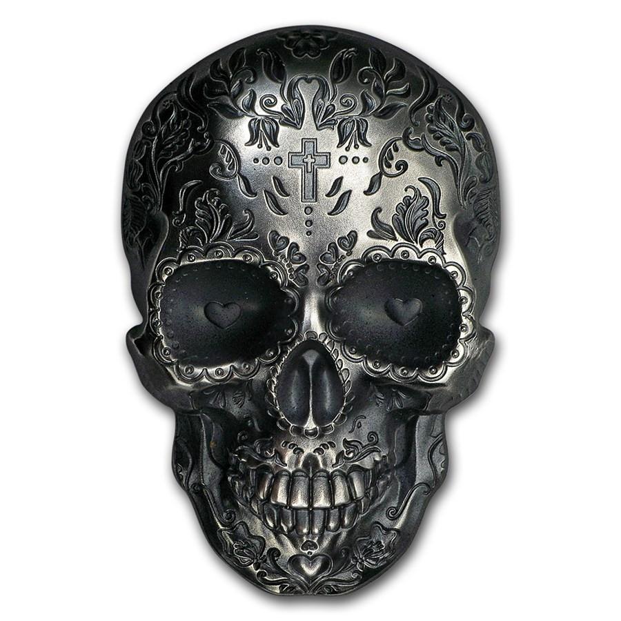 La Catrina Skull Numismatiek Zilver Goud999