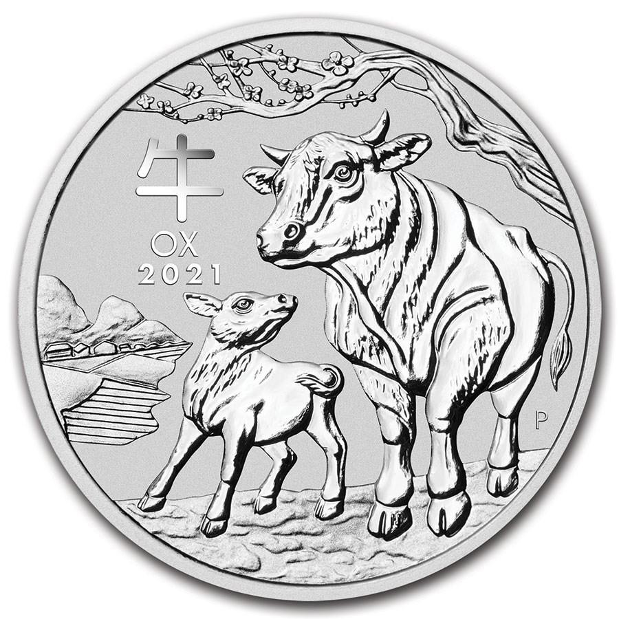 Lunar III Ox Zilver 1 Ounce 2021 | Muntzijde | goud999