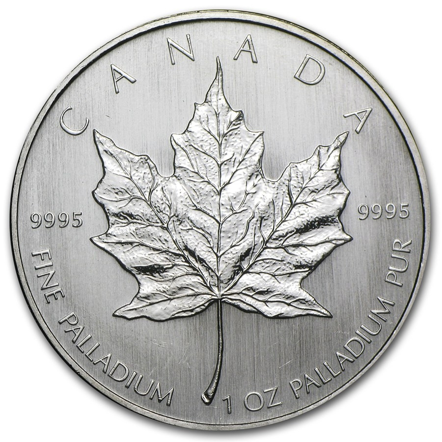 Maple Leaf Palladium 1 Ounce Diverse Jaargangen | Muntzijde | goud999