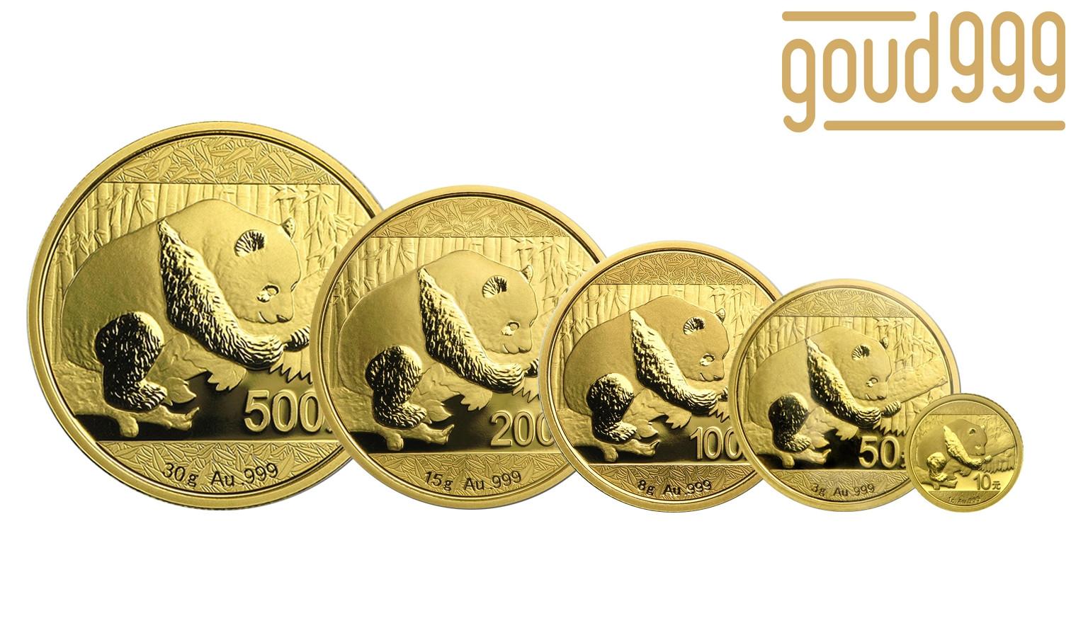 Panda Serie Goud 57 Gram  | Muntzijde | goud999