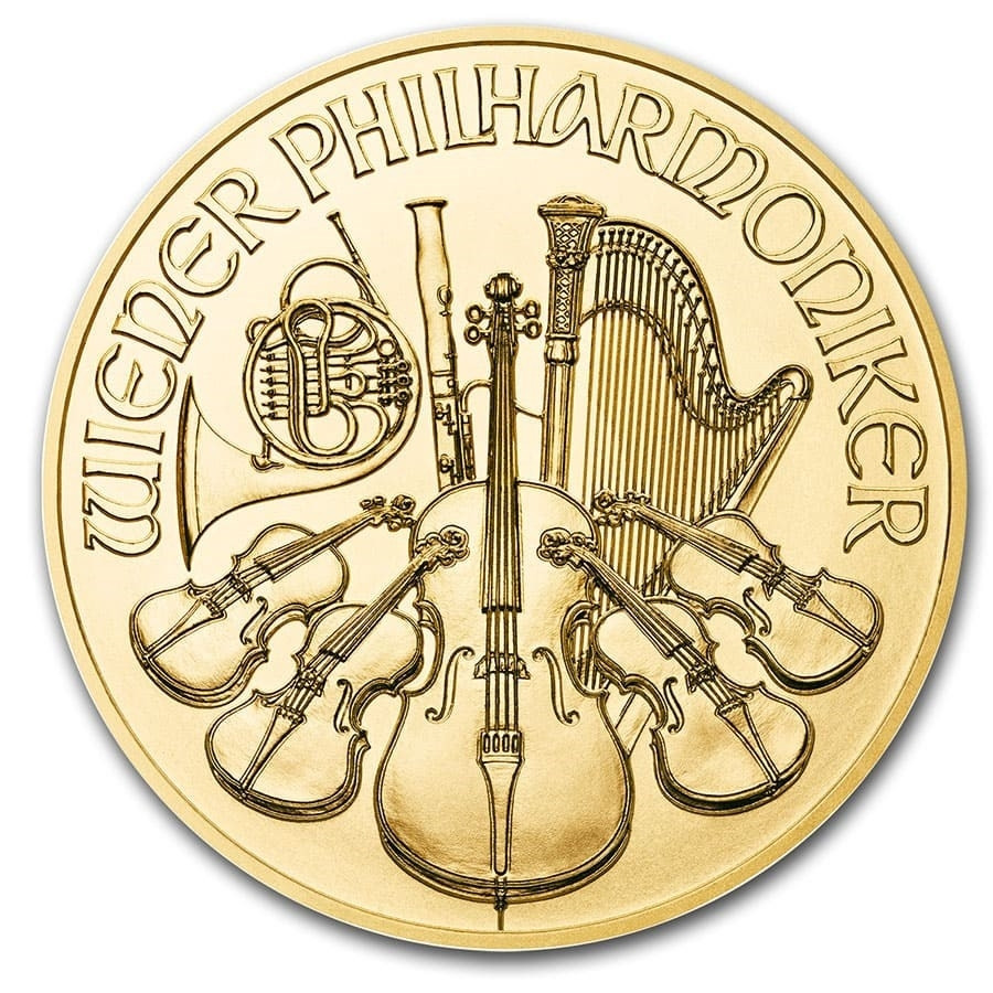 Philharmoniker Goud 1/2 Ounce divers | Kopzijde | goud999