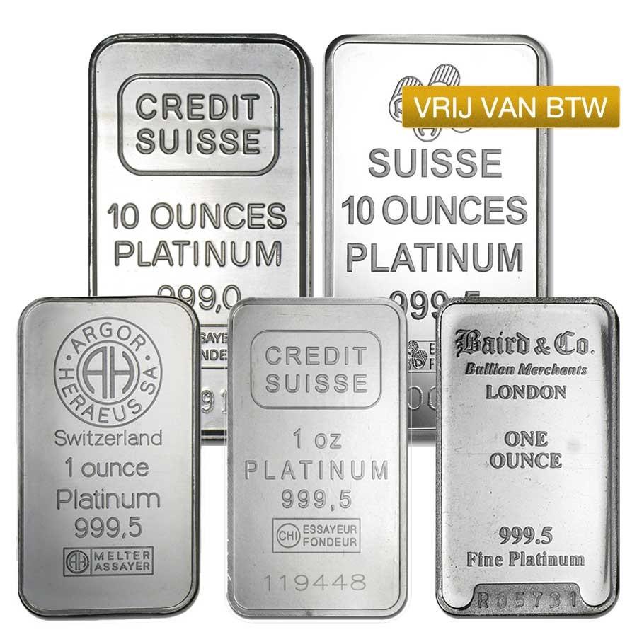 Platinabaren VRIJ VAN BTW | Baren | Platina | goud999