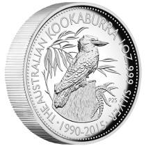 kookaburra 1 Ounce ZILVER PROOF High Relief Coin 2015
