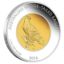Wedge-tailed Eagle 2016 1 Ounce Bi-metal Coin | Muntzijde | goud999