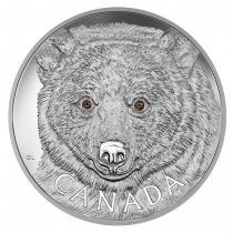 In the Eyes of the Spirit Bear 250CAD Zilver 1 Kilogram Proof | Muntzijde | goud999