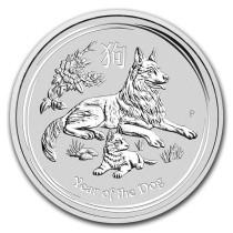 Lunar II Dog 10 kilogram zilver | muntzijde | goud999