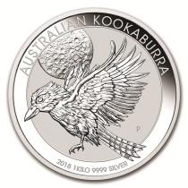 Kookaburra Zilver 1 Kilogram 2018 | Hoofdzijde | goud999
