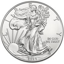 Zilver 1 Oz Eagle 2014 Hoofdzijde