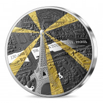 Eiffel Tower 130th anniversary Zilver 1 Kilogram 2019 PROOF - voorzijde