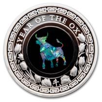 Lunar III Ox Zilver 1 Ounce 2021 PROOF opal | Voorkant | goud999