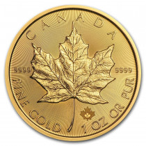 Maple Leaf Goud 1 Ounce 2021 | Muntzijde | goud999
