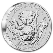 Koala Zilver 1 Kilogram 2021 Muntzijde | goud999