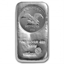 Andorra coin bar 1 Kilogram Zilver