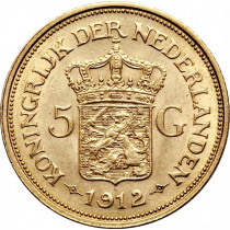 5 Gulden Goud   Hoofdzijde   goud999