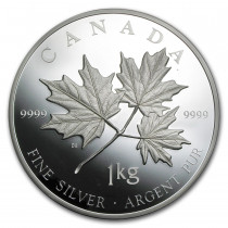 Maple Leaf Forever Zilver 1 Kilogram 2011 - Voorzijde