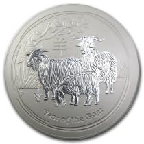 Lunar II Goat Zilver 10 Kilogram | Muntzijde | goud999