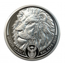 Lion Platina 1 Ounce 2019 PROOF |  Hoofdzijde | goud999