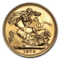 Britse Sovereign Goud (Nieuwe pond)   Muntzijde   goud999