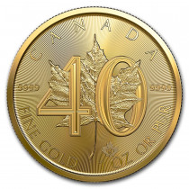 Maple Leaf Goud 1 Ounce 40th anniversary | Hoofdzijde | goud999