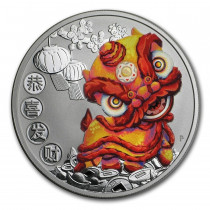 Chinese New Year Dragon 2020 Zilver 1 Ounce   Display   goud999