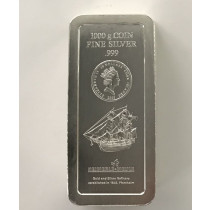 Cook Islands Zilver 1000 gram Coinbar