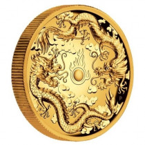 Double Dragon 2 Ounce 2019 PROOF HIGH RELIEF | goud999