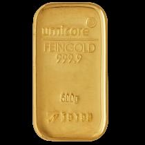Goudbaar LBMA 500 gram LBMA   Umicore 999,9/1000   goud999