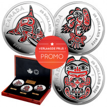 The Haida Series - Zilver 5 Ounce PROOF met ENAMEL | Geheel | Promo | goud999
