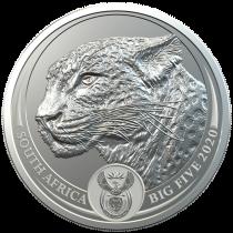 Leopard Zilver 1 Ounce 2020 B.U.
