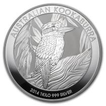 Kookaburra Zilver 1 Kilogram 2014 | Hoofdzijde | goud999