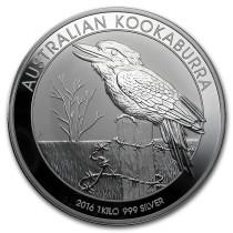 Kookaburra Zilver 1 Kilogram 2016 | Hoofdzijde | goud999