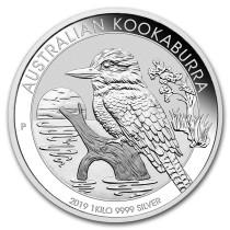 Kookaburra Zilver 1 Kilogram 2019 | Hoofdzijde | goud999