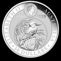 Kookaburra Zilver 1 Kilogram 2020 | Muntzijde | goud999