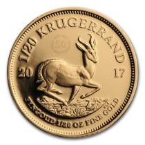 Krugerrand Goud 1/20 Ounce 2017 50th Anniversary PROOF   Muntzijde   goud999