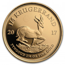 Krugerrand Goud 1/4 Ounce 2017 50th Anniversary PROOF   Muntzijde   goud999