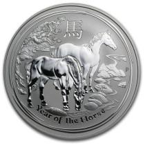 Lunar II Horse Zilver 1 Ounce 2014 | Muntzijde | goud999
