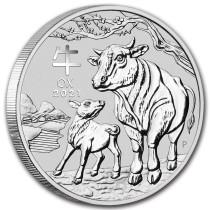 Lunar III Ox Zilver 1 Kilogram 2021 | Muntzijde | goud999