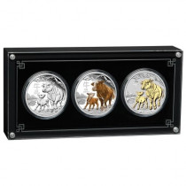 Lunar III Ox  gekleurd Set | zilver | goud999