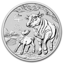 Lunar III Ox Zilver 2 Ounce 2021 | Muntzijde | goud999