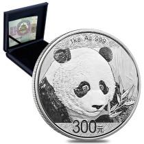 Panda Zilver 1 Kilogram 2018 PROOF | Doos | goud999.com