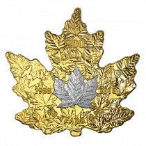 Maple Leaf Gold Platina Front Goud999