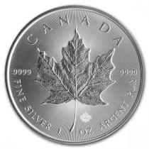 Maple Leaf Zilver 1 Ounce Diverse Jaargangen   Muntzijde   Goud999