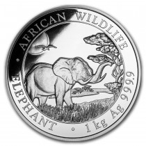 Somalian Elephant Zilver 1 Kilogram 2019 | Hoofdzijde | goud999