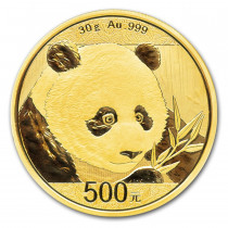 Panda Goud 30 Gram 2018 | Muntzijde | goud999