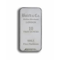 Platinabaar 10 Ounce goud999